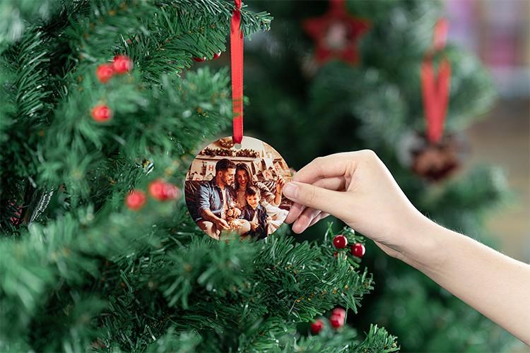 Sublimation Aluminum Christmas Ornaments - Square Shape Ornaments