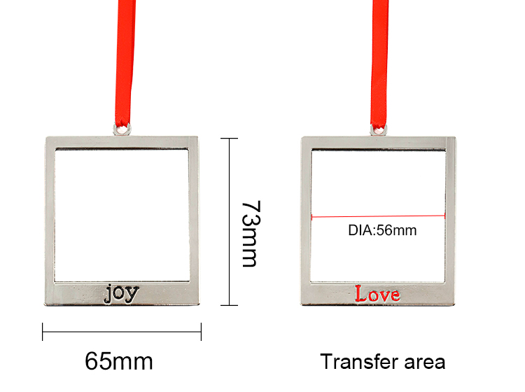 Square shape Ornaments-JOY