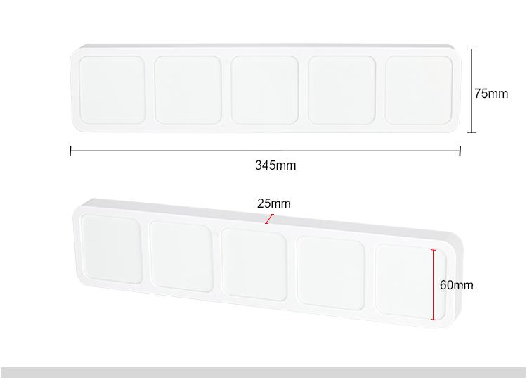 Sublimation Plastic Photo block -35*7.5*2.5cm