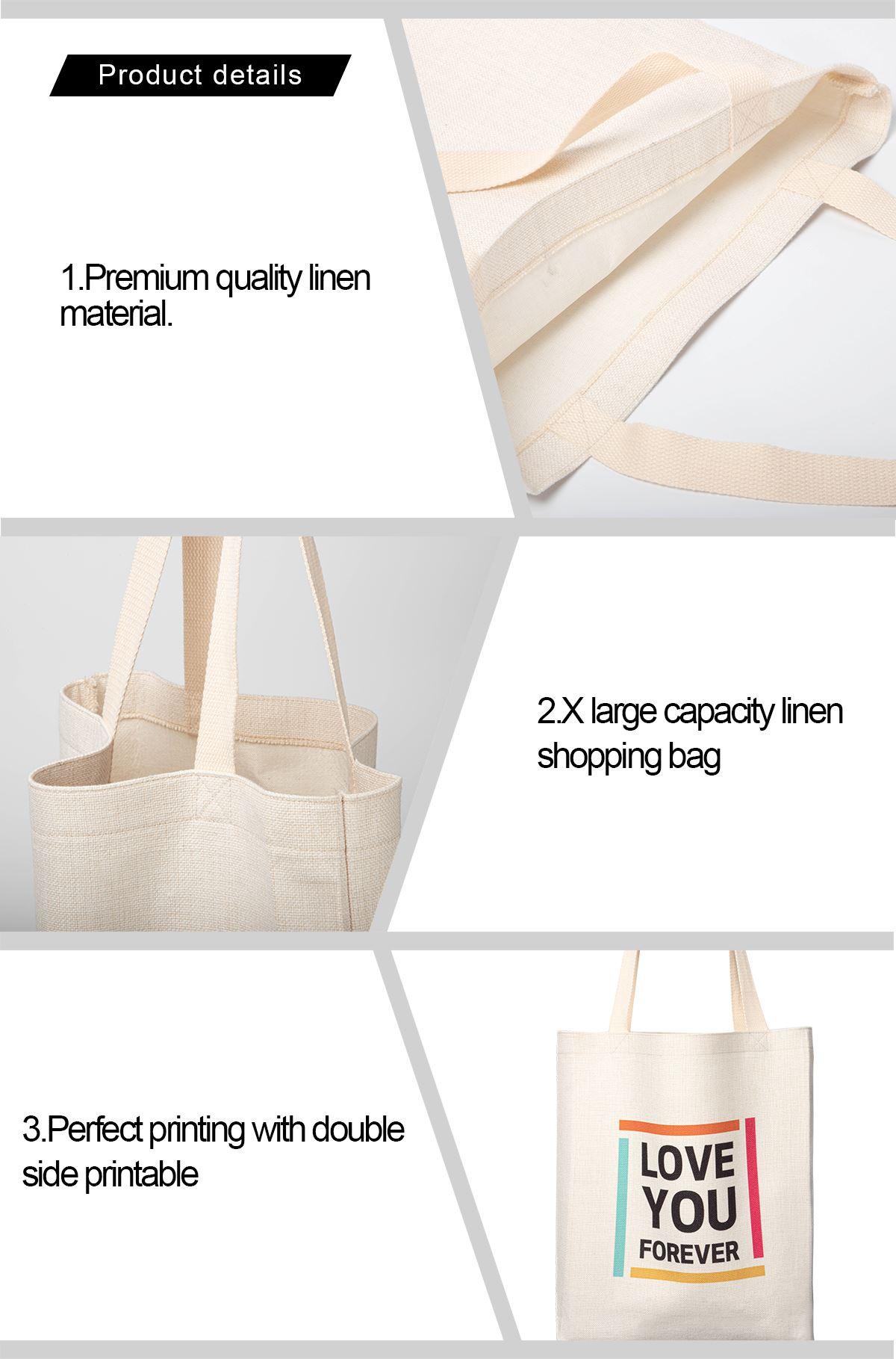 Sublimation Linen Tote Bag-38*40CM
