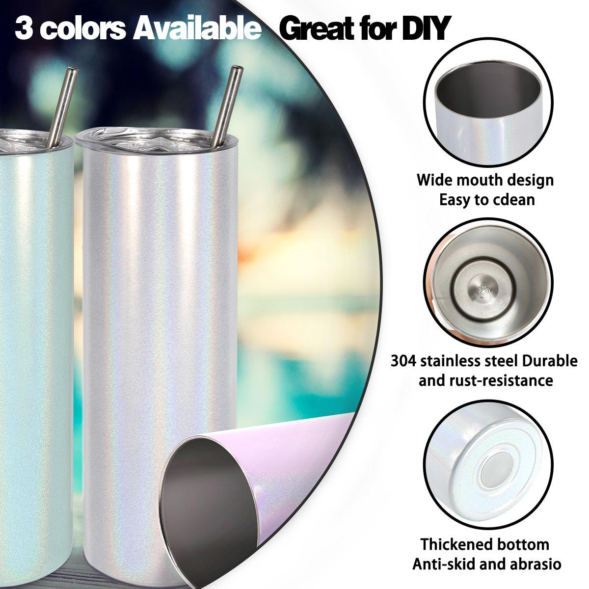 20OZ Stainless Steel Rainbow Sparkle Bottle