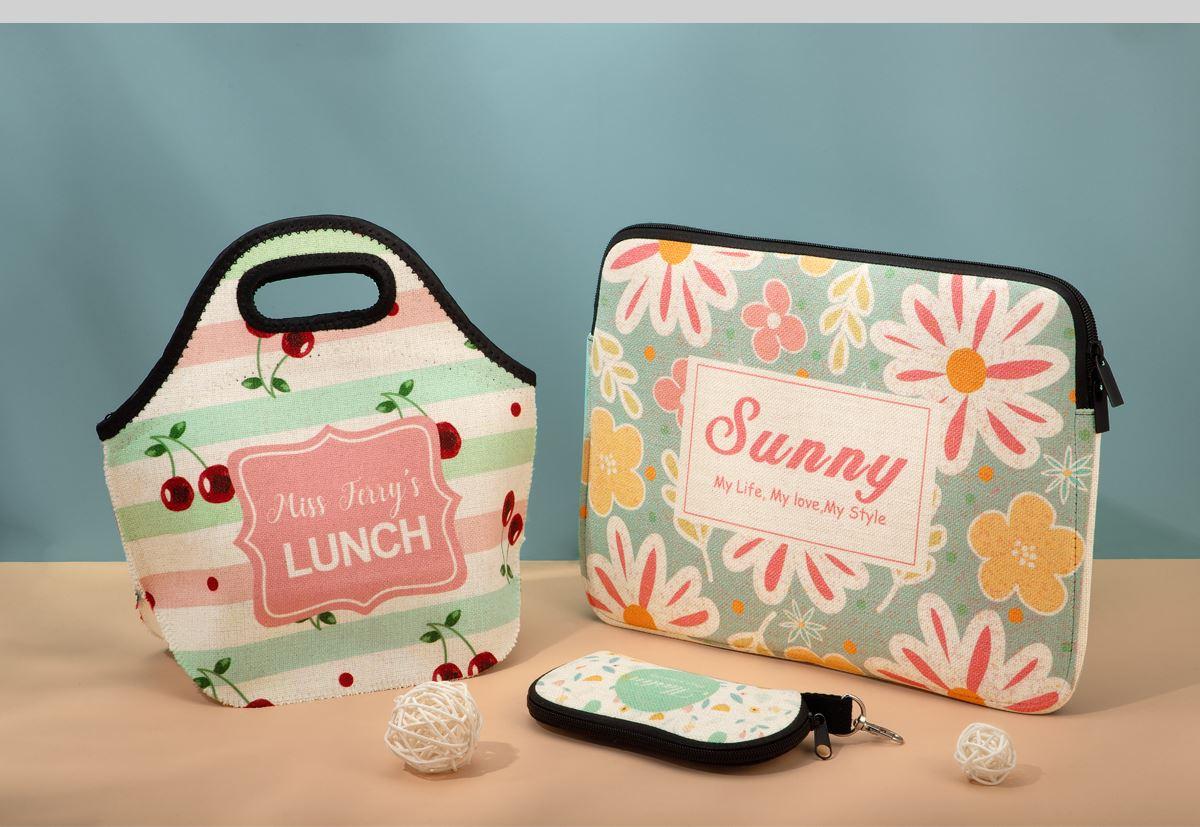 Sublimation Linen Laptop Bag Series