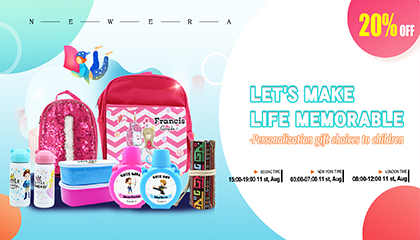 Let's make life memorable-Personalization gifts to children