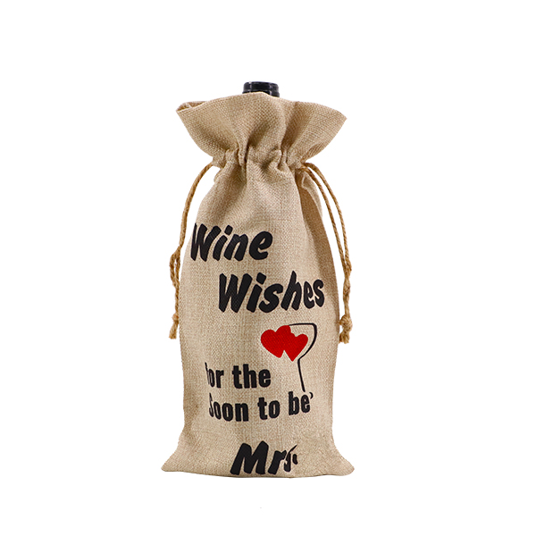 small linen drawstring bags