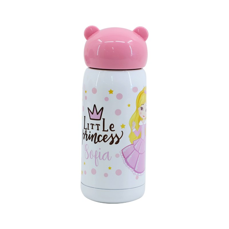 300ml Stainless Steel Bottle with Bear Shape Lid