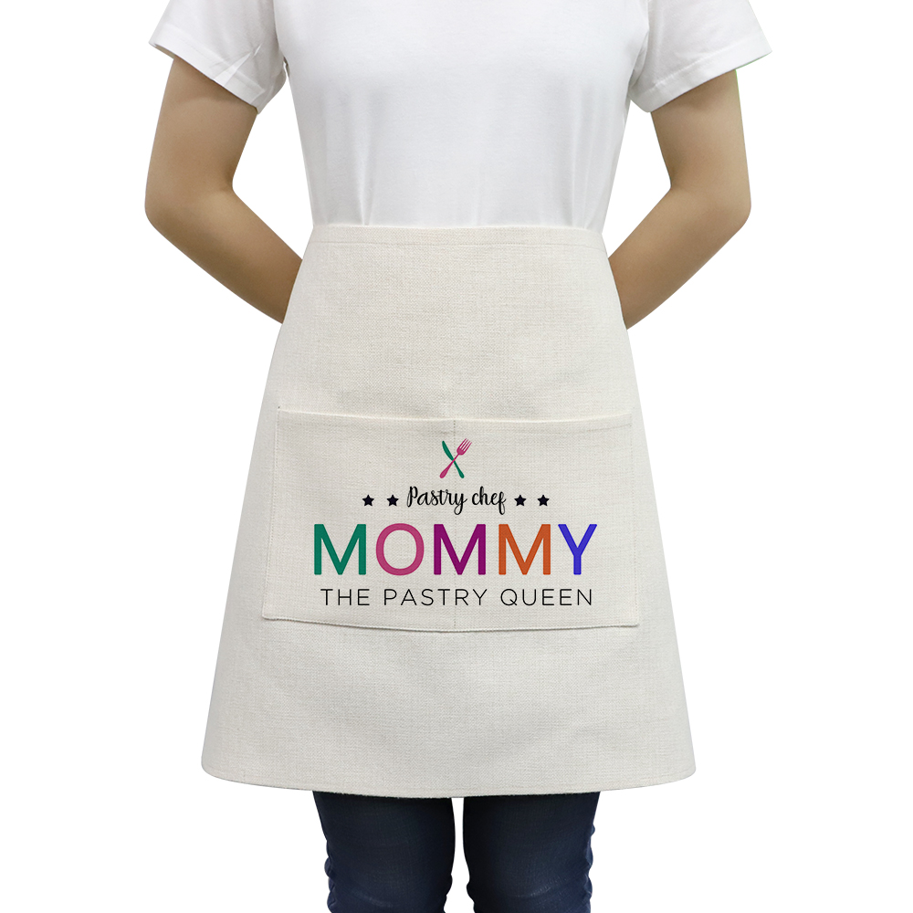 Sublimation Textile Blanks Linen Waist Apron