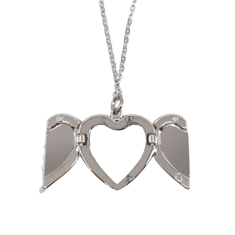 sublimation angel wings pendant necklace