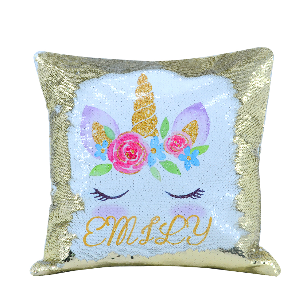 glitter pillow cover