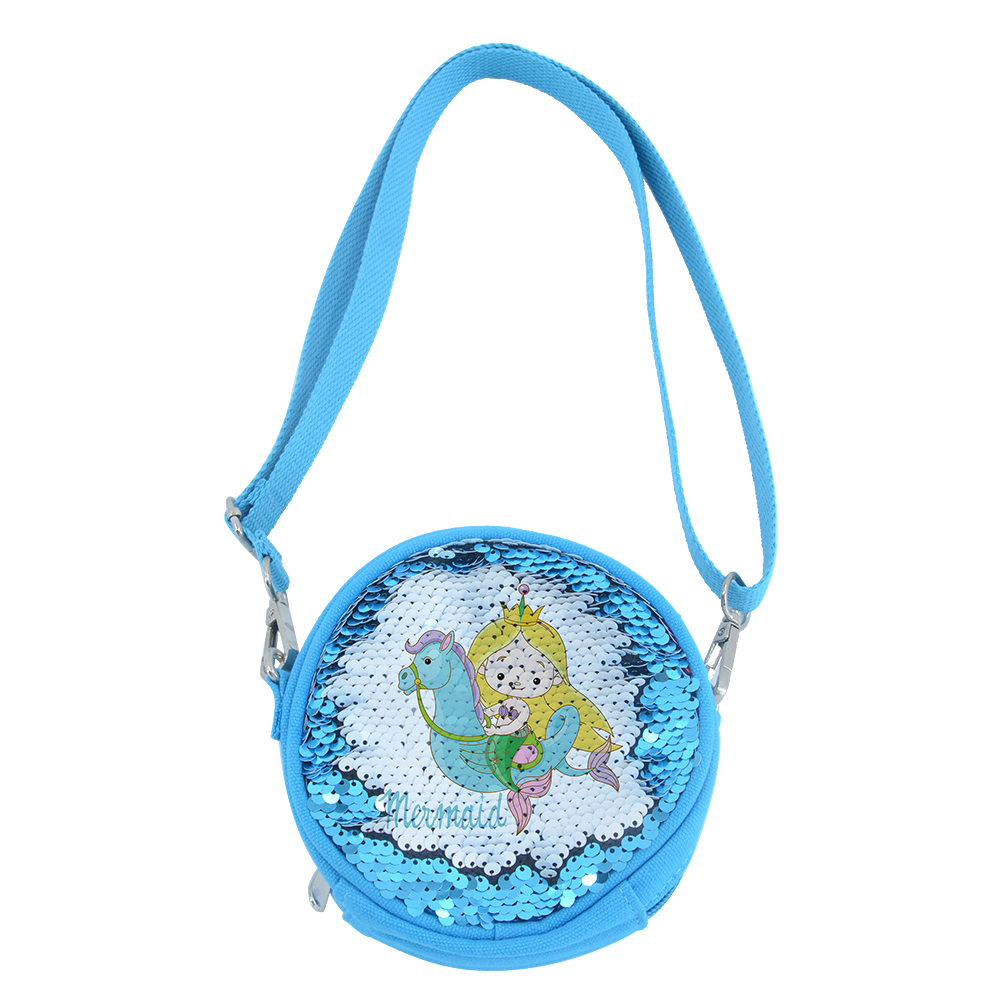 Sequin Kids  Round Coin Bag