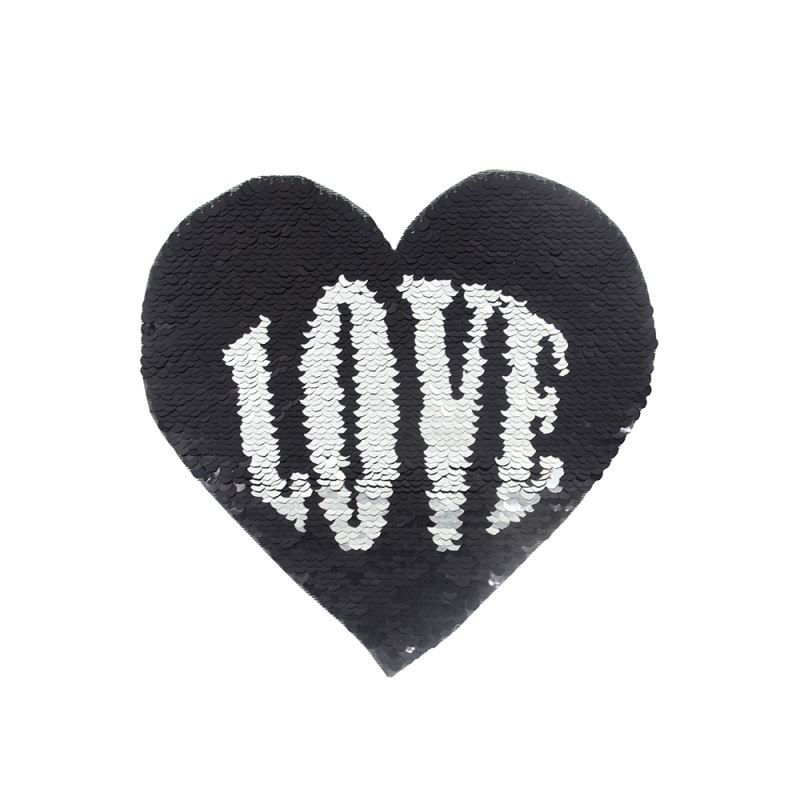 Sequin Transfer-Heart Shape (Love/Kiss) 16.5*19.5cm