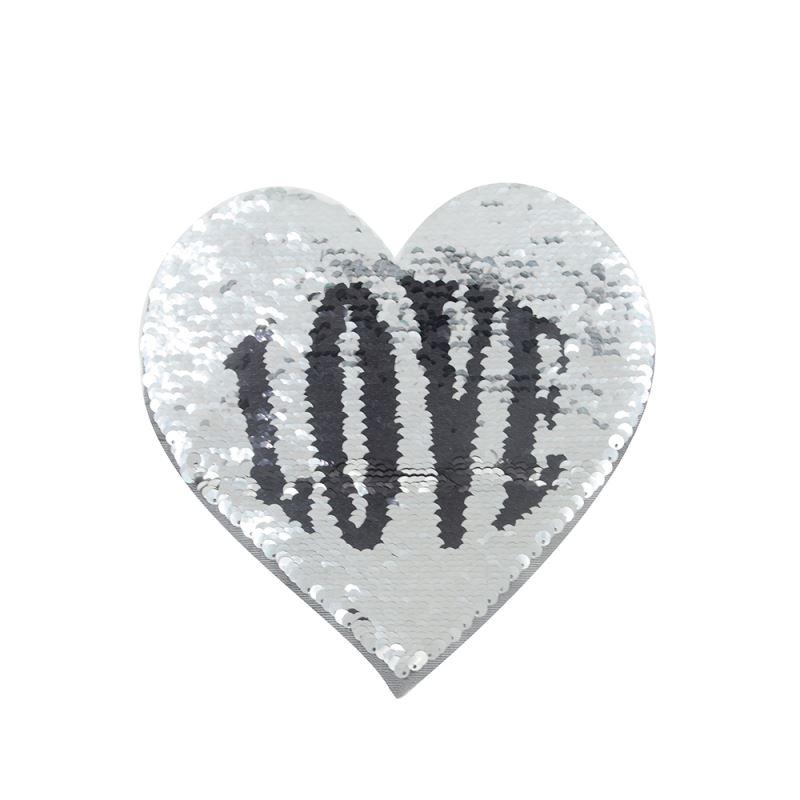 Sequin Transfer-Heart Shape (Love/Kiss) 16.5*19.5cm