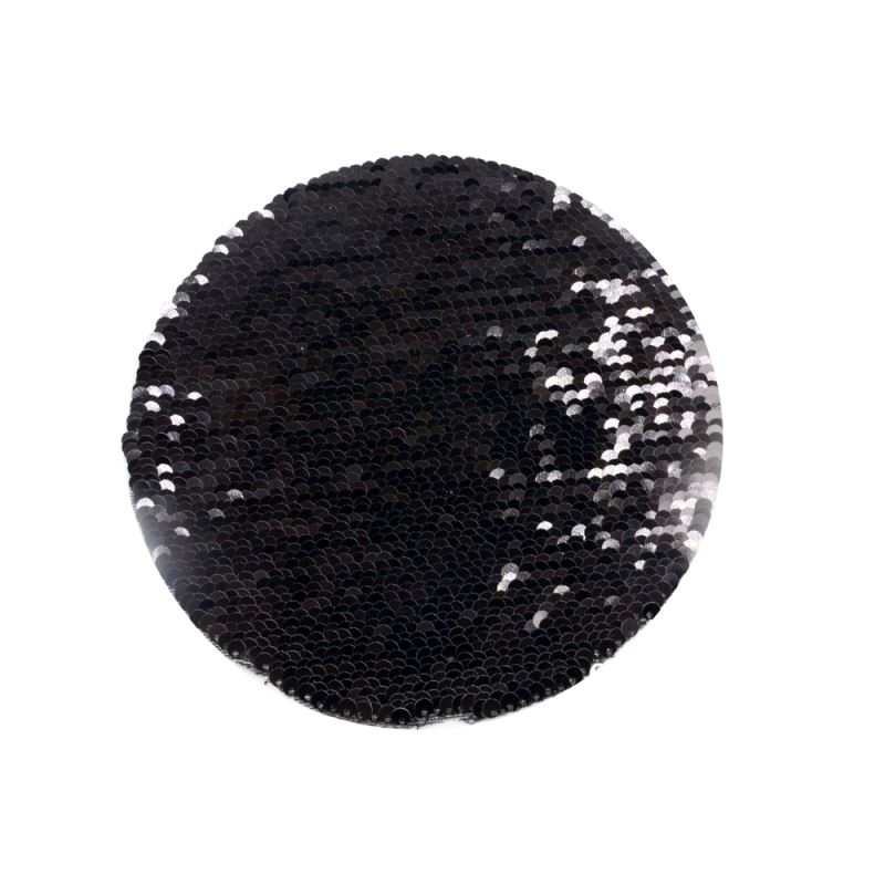 Black/White Sequin Transfer-Round Shape