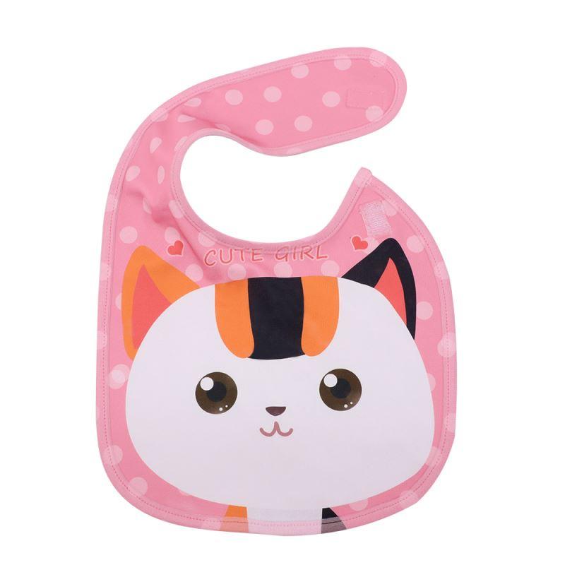 Baby Bib-Pink-Dual Layer(Cotton&Polyester)