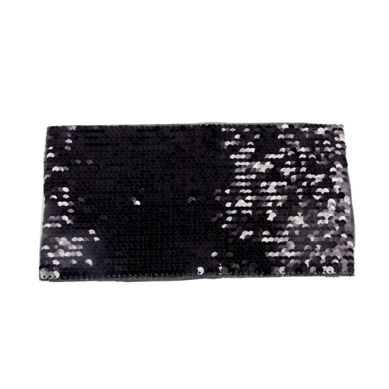 Black/White Sequin Transfer Rectangle  19.5*10cm