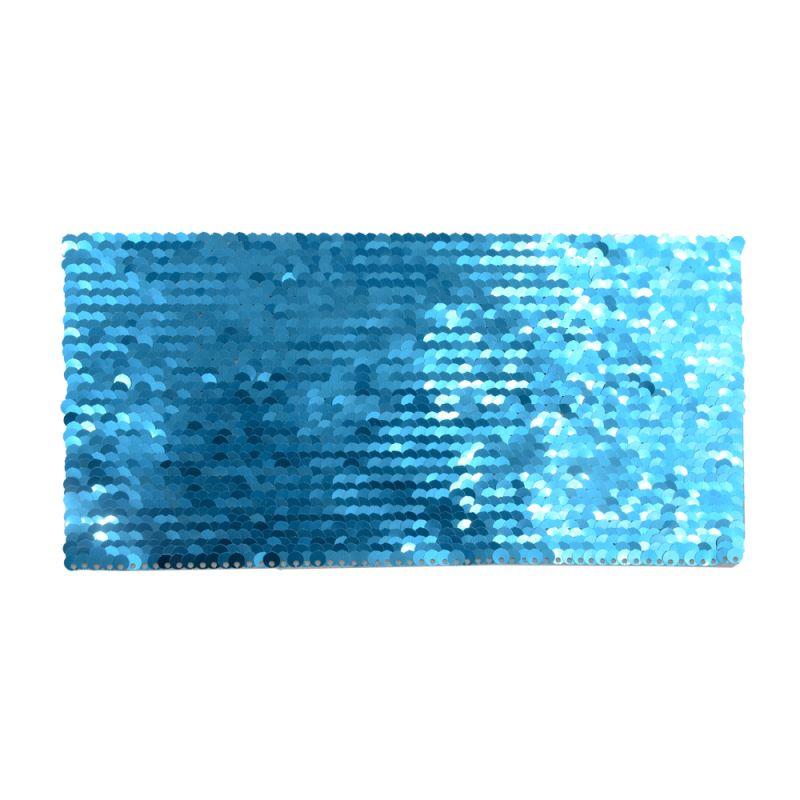 Purple/White Sequin Transfer Rectangle  19.5*10cmle