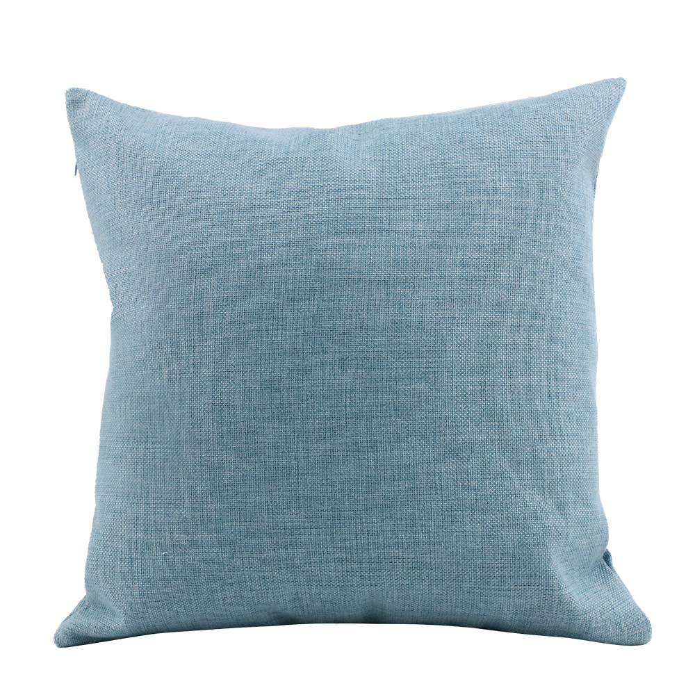 Linen Pillow Case - Light Blue -16