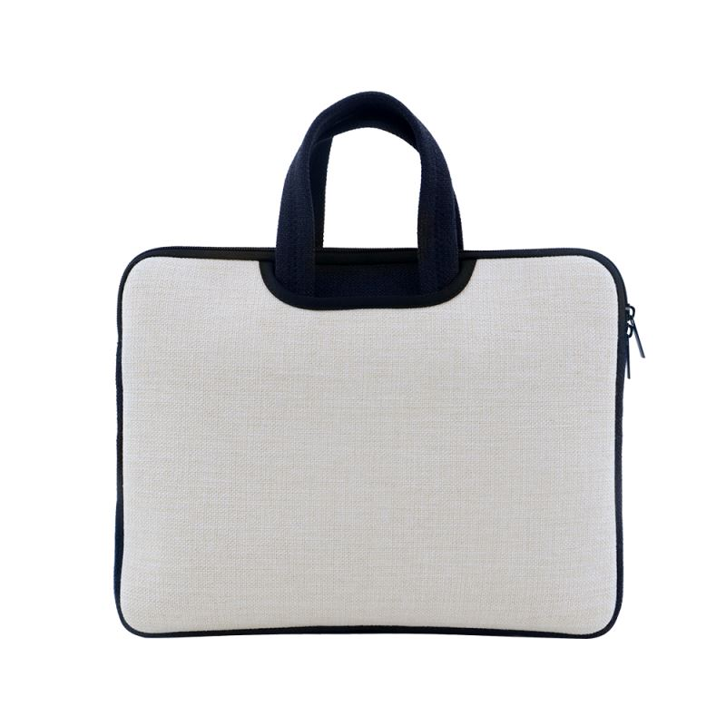 Linen Laptop Case with Handle 14