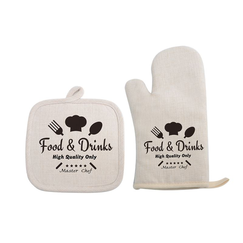 linen oven gloves