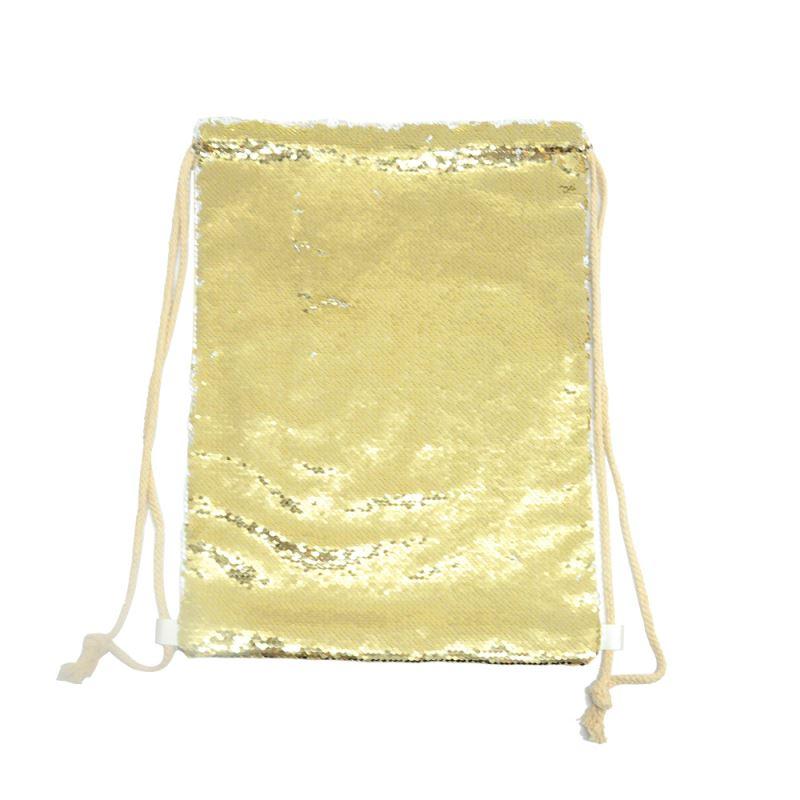 Sequin Xmas Sack-30*40cm-Golden
