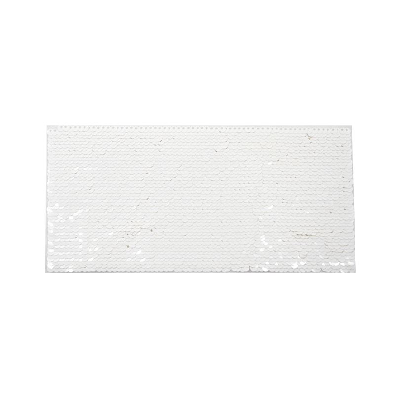 White Sequin Transfer Rectangle 19.5*10cm