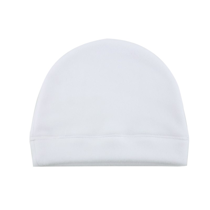 Beanie-Fleece White-Adult