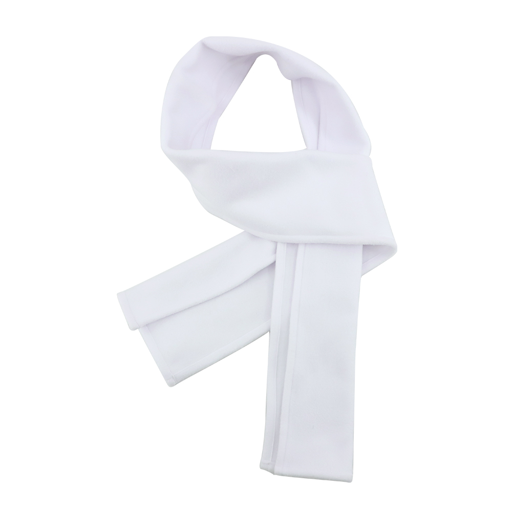 Scarf-Fleece White-7.5