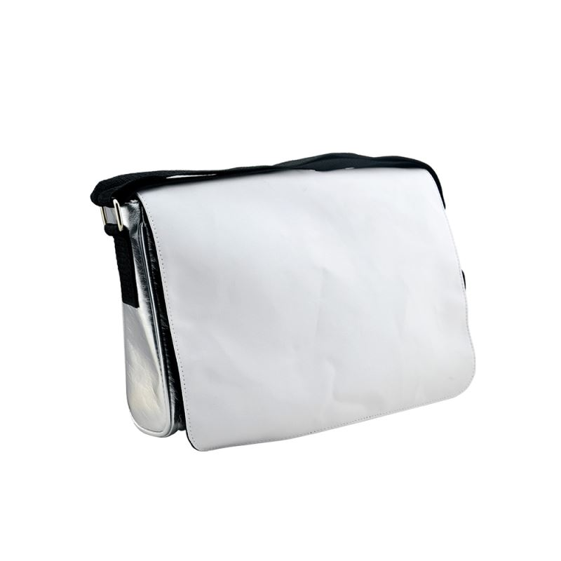 PU Leather Shoulder Bag-Silver-Small