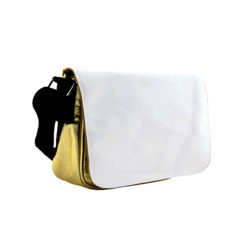 PU Leather Shoulder Bag - Golden Small