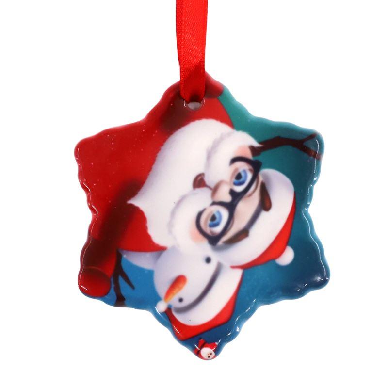 ceramic photo ornament