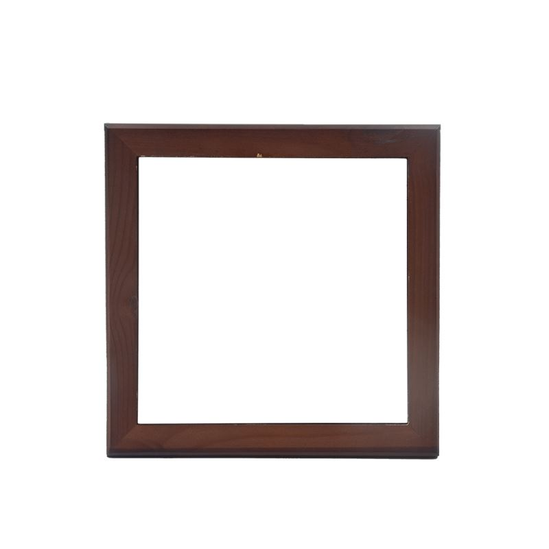 Wooden frame without tile