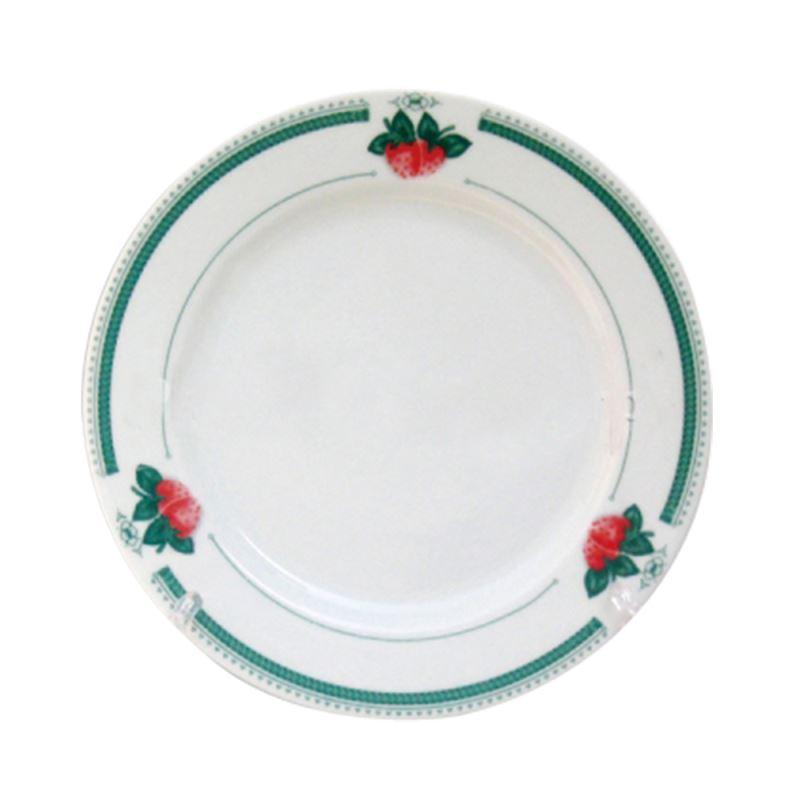 8'' Plate with  Lutus Leaf Rim