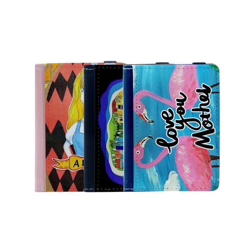 PU Card Holder - Black/Pink/Blue