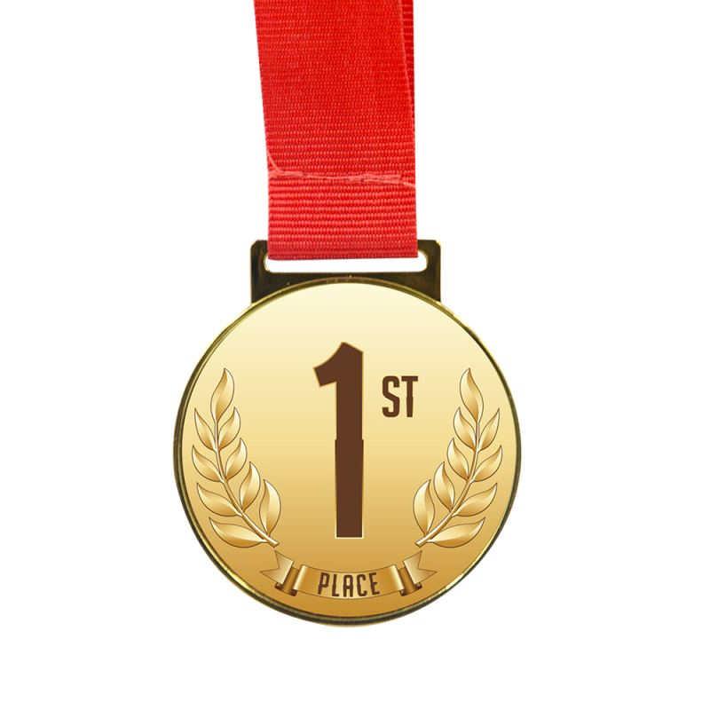 Medal(Dia 5.4CM) with Red Cord (Length 40.5CM)