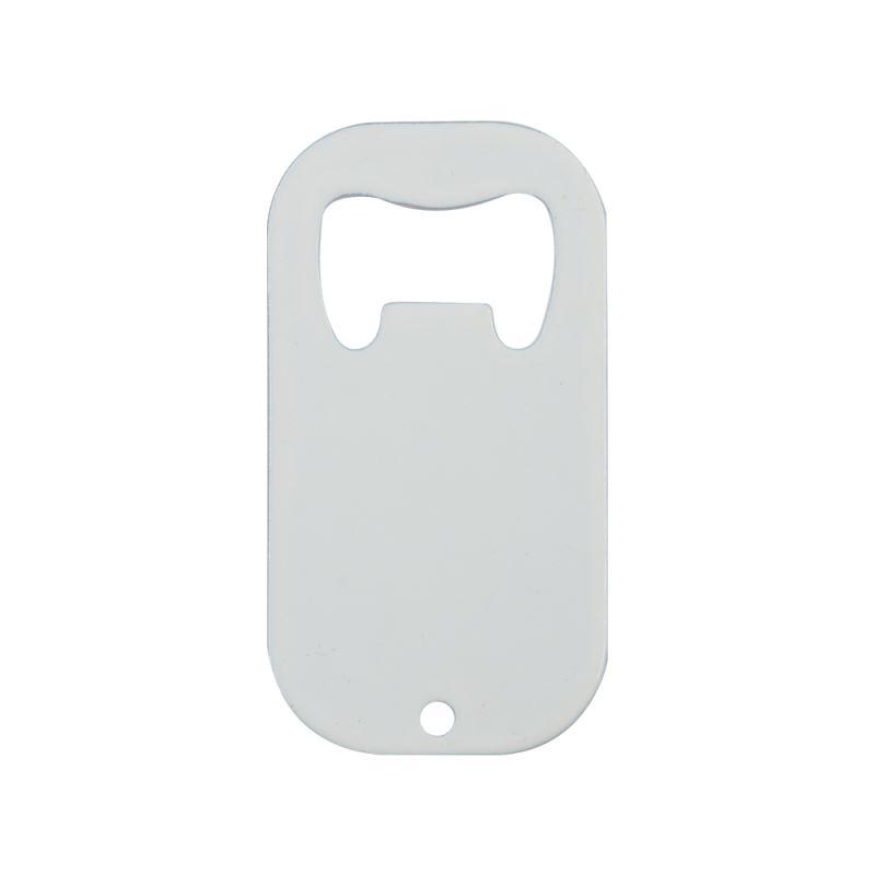 Stainless Steel Bottle Opener-Dog Tag Shape-White