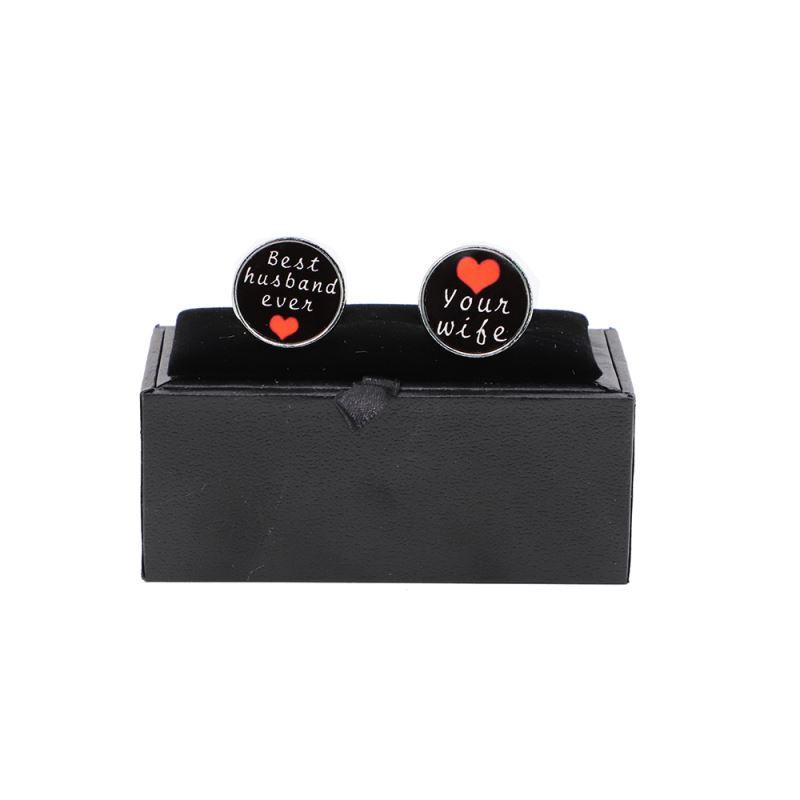 gift box sublimation cufflinks set