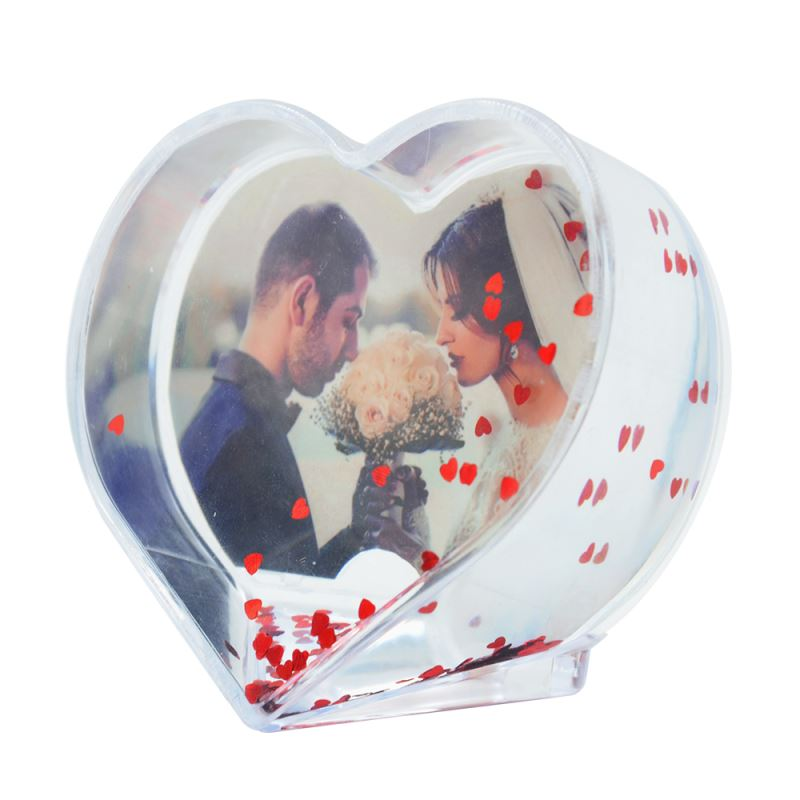 Acrylic Photo Block-Heart Shape