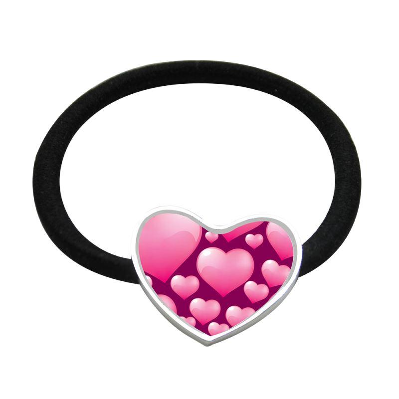 Metal Hair Tie-Heart