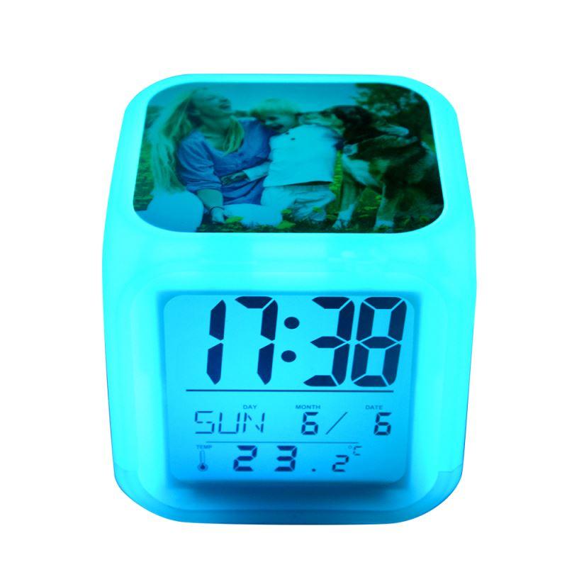Glowing LED 7 Color Change Digital  Alarm Clock