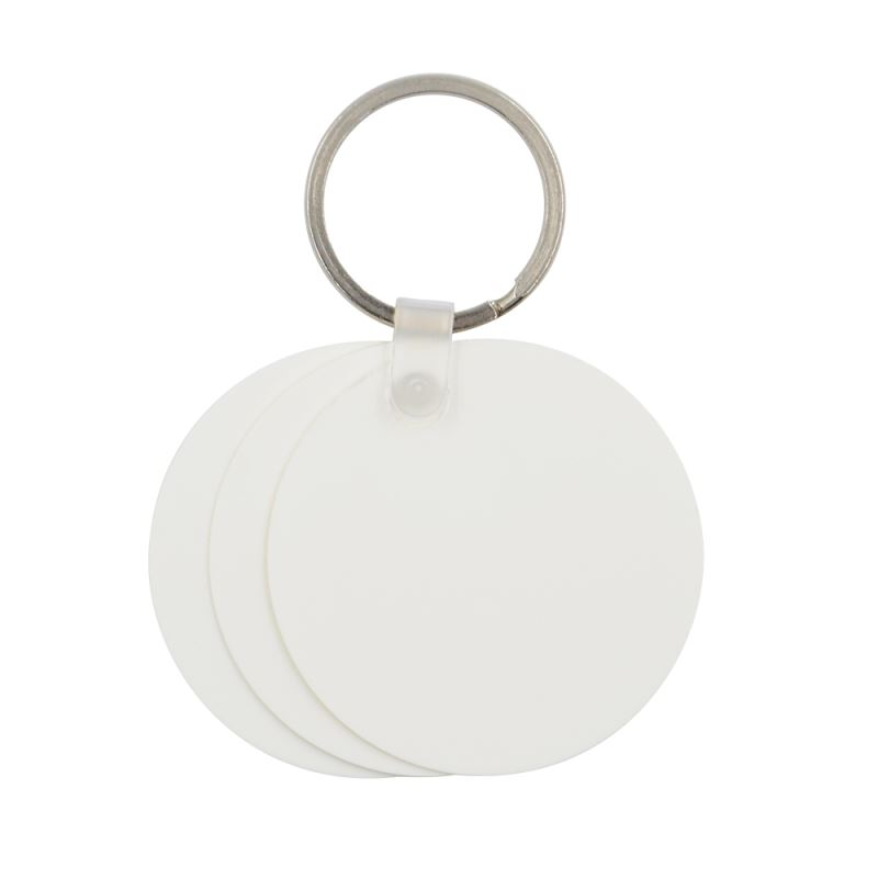 Plastic Key Chain Round Shape