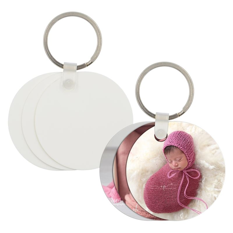 Plastic Key Chain Round Shape