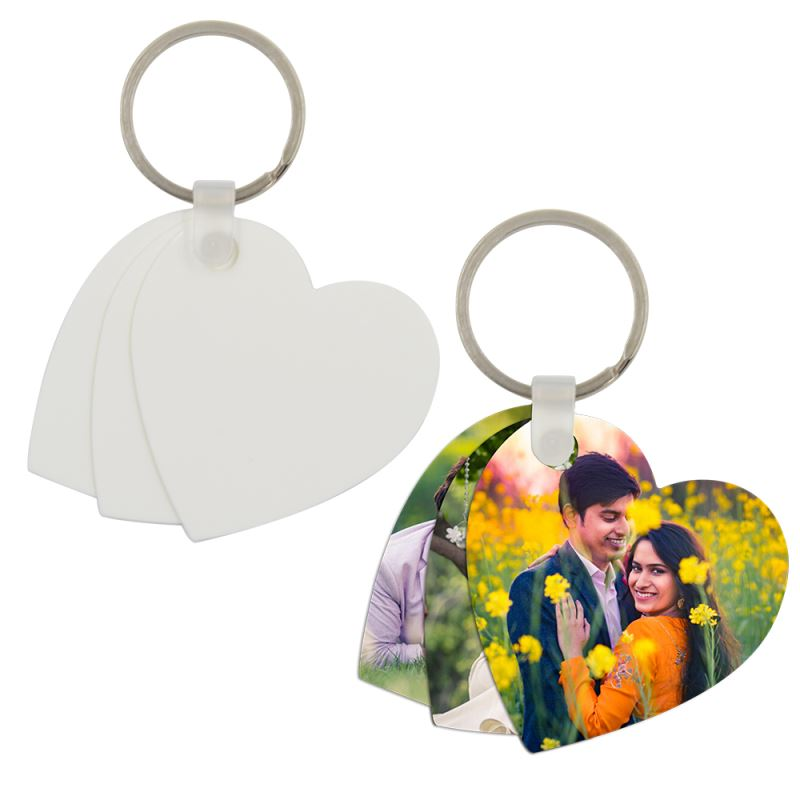 Plastic Key Chain Heart Shape