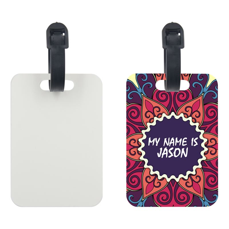 PET Luggage Tag-Round Corner