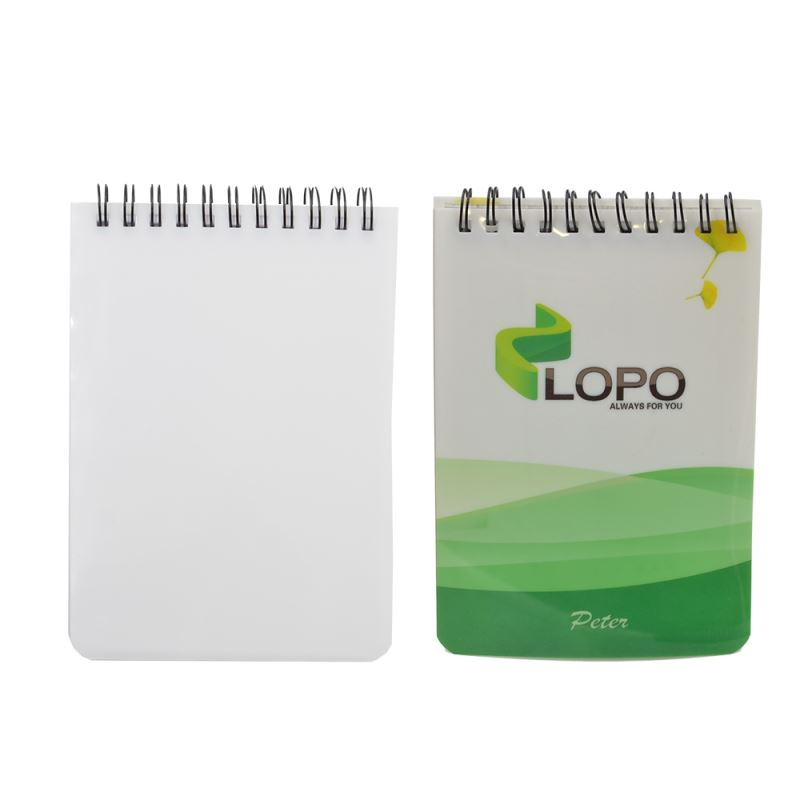 Plastic Cover Notebook Blank A6-Glossy/Matt