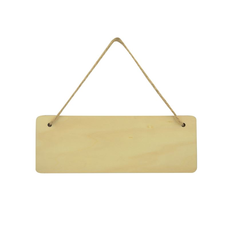Natural Wood Plaque-Double Side Printable-Rectangle