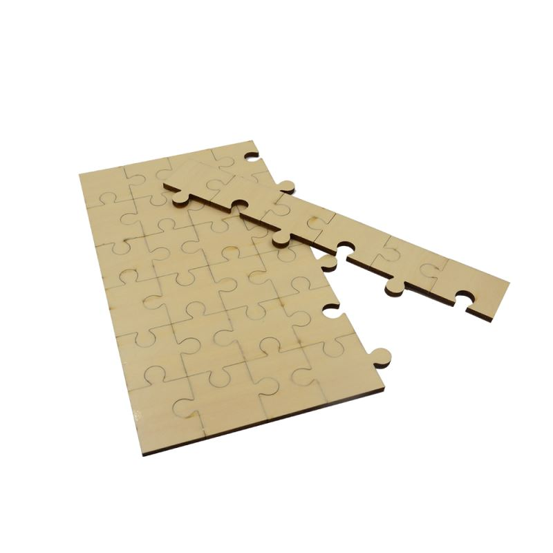 blank wooden puzzle