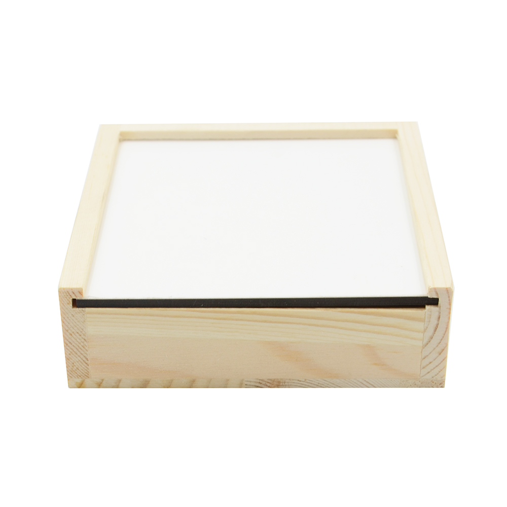 Wooden Coaster box with MDF Insert