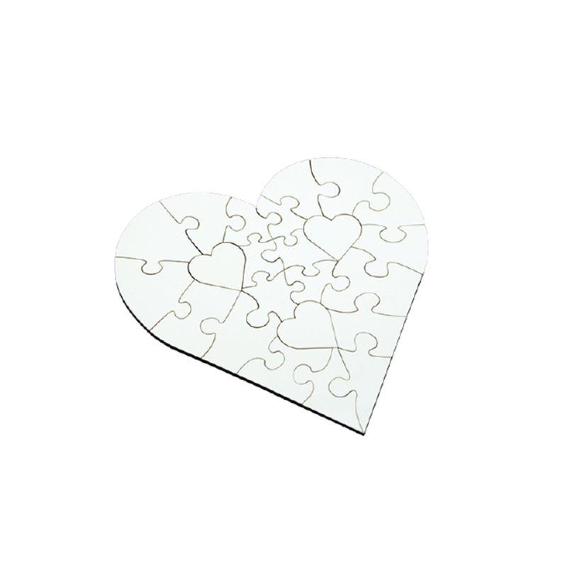 MDF Puzzle Heart shape 23pcs