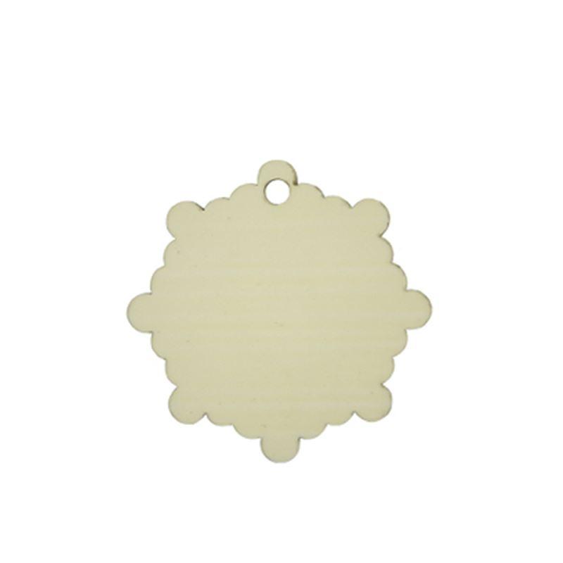MDF Ornaments-Snowflower Shape