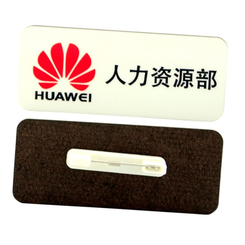 MDF Name Badge With Pin-Rectangle