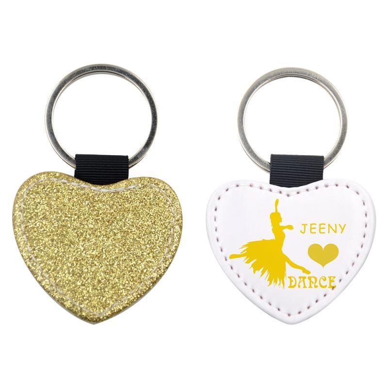 sublimation glitter keychain